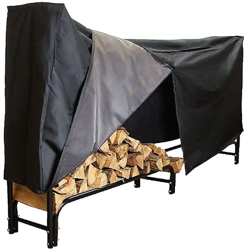 Sunnydaze Firewood Rack and Cover Combo Set — Best Heavy-Duty Rack