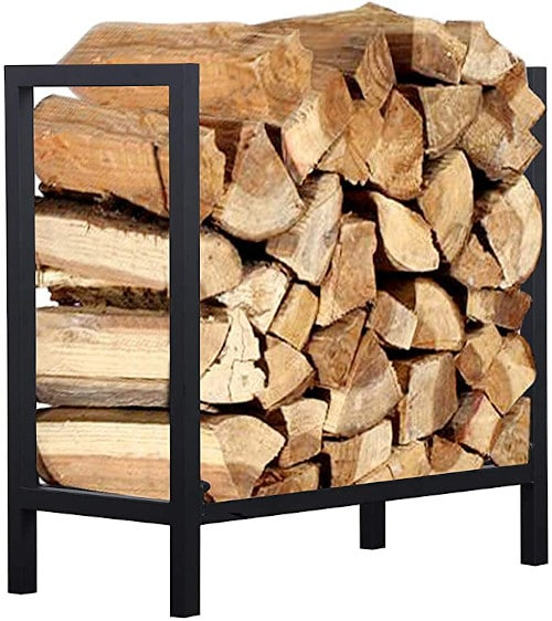 Ucared Firewood Rack Log Rack 24 Inch Indoor/Outdoor Fire Wood Storage review