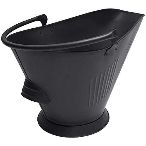 Amagabeli Bucket for Fireplace Hot Ashes Carrier Container Black — Best For Quality & Versatility