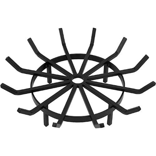 Amagabeli Fire Pit Grate Wrought Iron Round Spider Wagon Wheel – Good Air Circulation