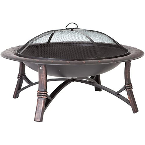 Fire Sense 60857 Roman Fire Pit – Brushed Bronze