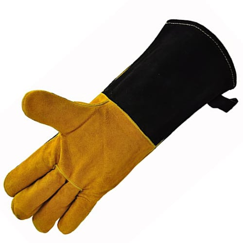 """G & F Products 14.5"""" Long Premium Leather Heat Resistant Gloves for BBQ Grill and Fireplace Gloves review"""