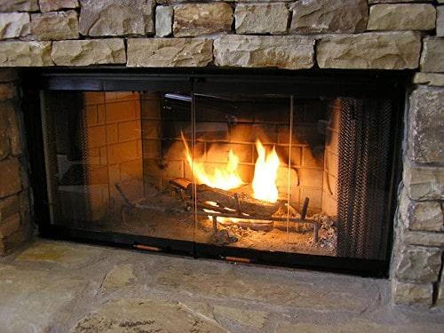 Heatilator Fireplace Doors – Black 42 Glass Doors – DM1042 — Best For Reducing Heat Loss & Easy Installation