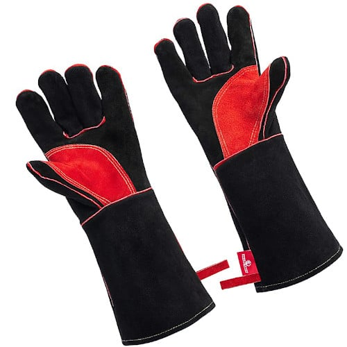 """HereToGear Welding Gloves 16"""" Fireproof Heat Resistant for Fireplaces Fire Pits and Wood Stoves review"""