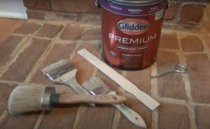 How to Paint Brick Fireplace