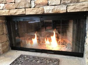 Pathline Products Fireplace Glass Doors for Majestic Fireplace