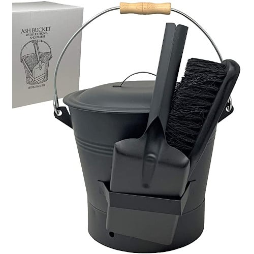 Smedley and York Coal and Ash Bucket with Shovel and Hand Broom — Best For Functionality
