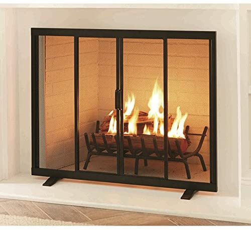 Style Selections 38.97-in Black Powder Coated Steel Flat Twin Fireplace Screen — Best For Saving Space & Innovation