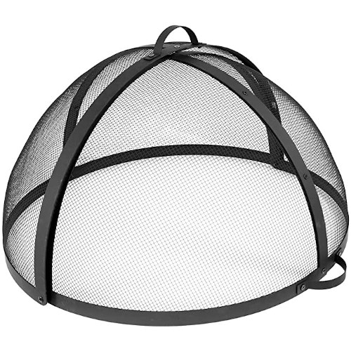 Sunnydaze Easy-Opening Fire Pit Spark Screen Cover – Very Easily Accessible