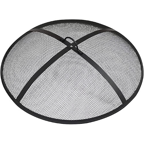 Sunnydaze Outdoor Fire Pit Spark Screen Cover Guard Accessory