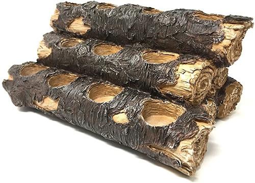 USAWAREHOUSE Tealight Fireplace Log Candle Holder (12 Inches Wide), Fireplace Candle Holder (Rustic) review