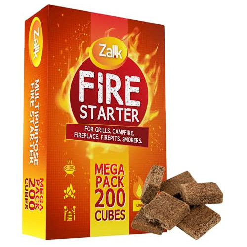 200 Pack Fire Starter, MEGA Pack Fire Starters for Campfires, Fireplace, Firepits, Charcoal Starter, Firestarter for Grill, BBQ & Wood Stove, All Natural & Waterproof, Safe for Indoor/Outdoor Use review