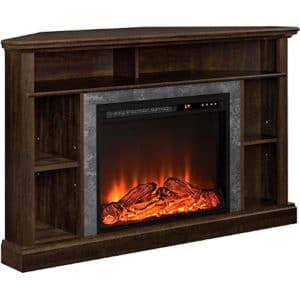 """Ameriwood Home Overland Electric Corner Fireplace for TVs up to 50"""" Wide, Espresso"""