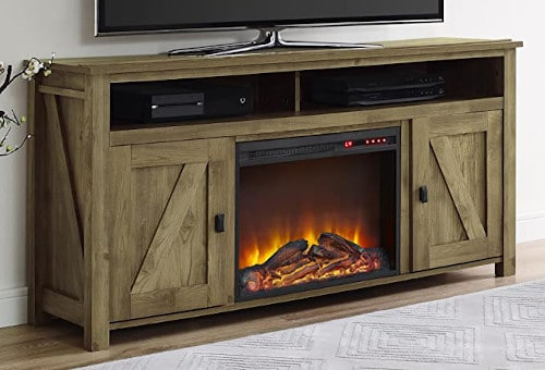 """Ameriwood Home Farmington Electric Fireplace TV Console for TVs up to 60"""", Natural  review"""