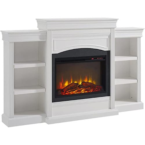 Ameriwood Home Lamont Mantel Fireplace, White,1815096COM review