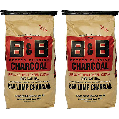 B&B Charcoal Signature Low Smoke Long Burning Oak Lump Charcoal with All Natural Material for Grills and Barbecues, 20 Pounds (2 Pack) review