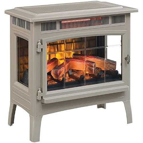 Duraflame 3D Infrared Electric Fireplace Stove with Remote Control - Portable Indoor Space Heater - DFI-5010 (French Grey) review