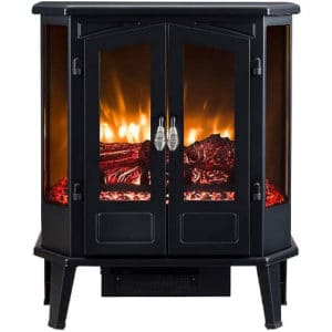 HEARTHPRO 5-Sided Infrared Stove Fireplace Heater Electric Fireplace Stove Heater Freestanding Indoor