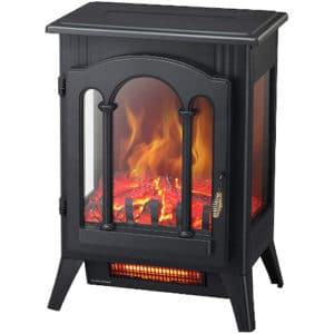 Kismile 3D Infrared Electric Fireplace Stove, Freestanding Fireplace Heater With Realistic Flame Effects