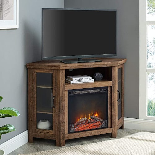 Lucas 48 inch Corner Fireplace TV Stand in Rustic Oak review