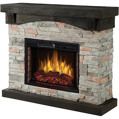 "Muskoka 42"" Sable Mills Grey Faux Stone Mantel Electric Fireplace review"