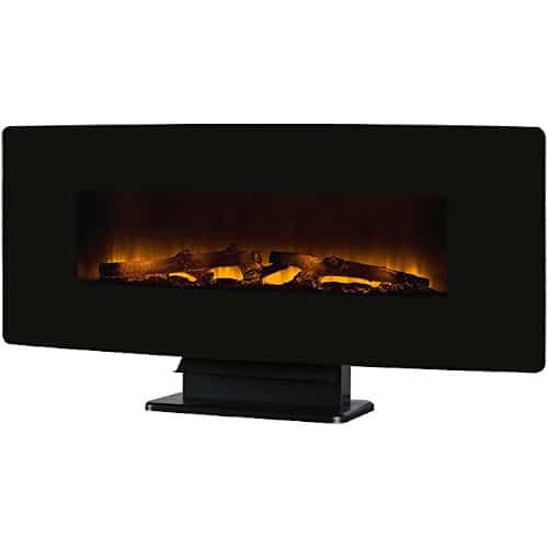 """Muskoka Curved Front Black 42"""" Wall Mount Electric Fireplace Glass review"""