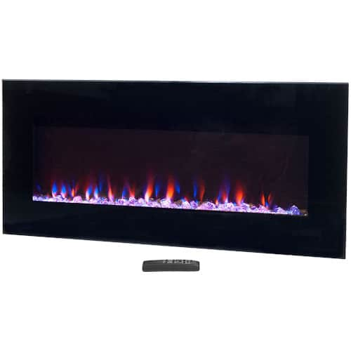 Northwest (Black Electric Fireplace-Wall Mounted with LED Fire and Ice Flame review