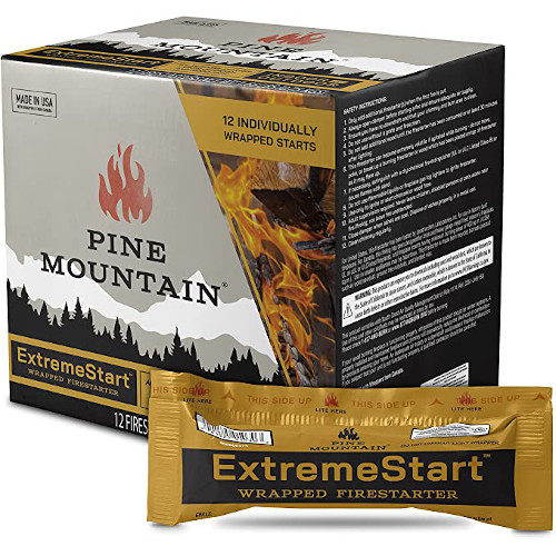 Pine Mountain ES 24CT ExtremeStart Wrapped Starters, 24 Starts Firestarter Log for Campfire, Fireplace, Wood Stove, Fire Pit, Indoor and Outdoor Use, Piece review