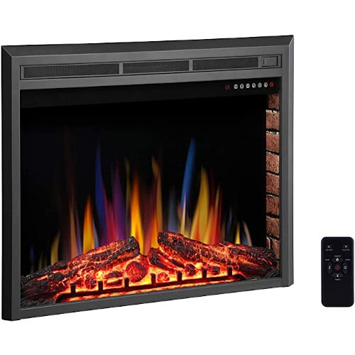 """R.W.FLAME 36"""" Electric Fireplace Insert ,Recessed Electric Stove Heater,Touch Screen,Remote Control,750W-1500W with Timer & Colorful Flame Option review"""