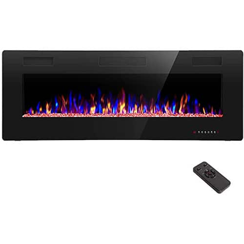 R.W.FLAME Electric Fireplace 50 inch Recessed and Wall Mounted
