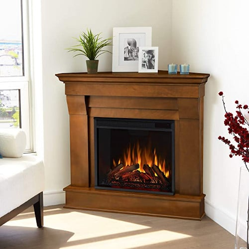 Real Flame 5950E Chateau Corner Electric Fireplace, Small, Espresso review