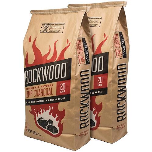 Rockwood All-Natural Hardwood Lump Charcoal - Missouri Oak, Hickory, Maple, and Pecan Wood Mix review