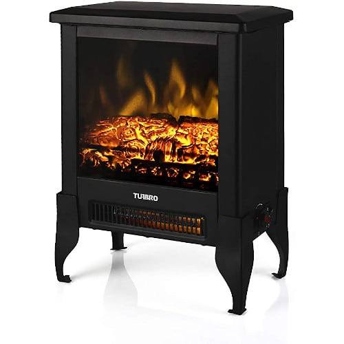 TURBRO Suburbs TS17 Compact Electric Fireplace Stove, Freestanding Stove Heater with Realistic Flame - CSA Certified review