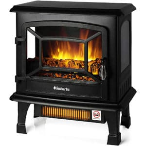 """TURBRO Suburbs TS20 Electric Fireplace Infrared Heater, Freestanding Fireplace Stove with Realistic Dancing Flame Effect - CSA Certified - Overheating Safety Protection - Easy to Assemble - 20"""" 1400W"""
