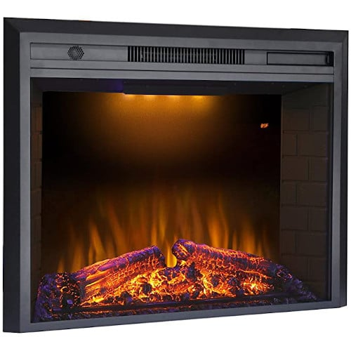 Valuxhome Electric Fireplace, 36 Inches Fireplace Insert with Overheating Protection, Fire Crackling Sound, Remote Control, 750/1500W, Black
