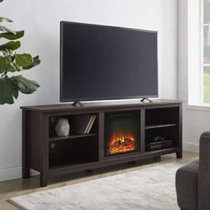 Walker Edison Wren Classic 4 Cubby Fireplace TV Stand