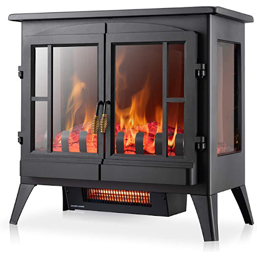 Xbeauty Electric Fireplace Stove, Freestanding Fireplace Heater with Realistic Flame, Indoor Electric Stove Heater 1000W/1500W(23 Inch) review