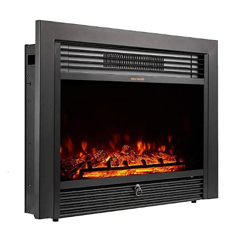 """YODOLLA 28.5"""" Electric Fireplace Insert with 3 Color Flames, Fireplace Heater with Remote Control and Timer, 750w-1500W,Classic Style review"""
