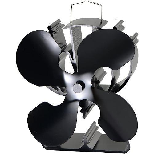 4-Blade Heat Powered Stove Fan for Wood / Log Burner/Fireplace – Best Seller