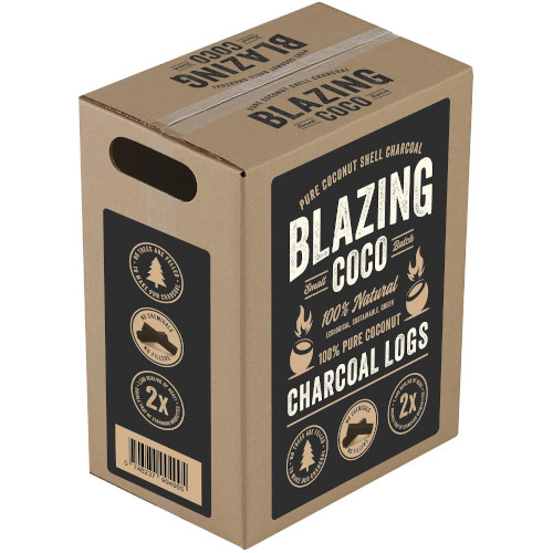 Blazing Coco Premium 20 Pound Coconut Shell Charcoal Logs review