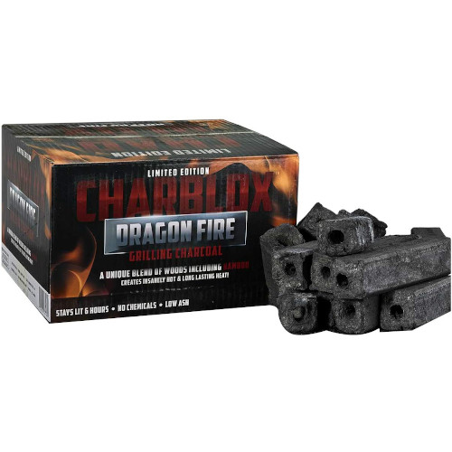 CHARBLOX Dragon Fire Bamboo Charcoal Logs - 100% Natural, Lasts 6 Hours review