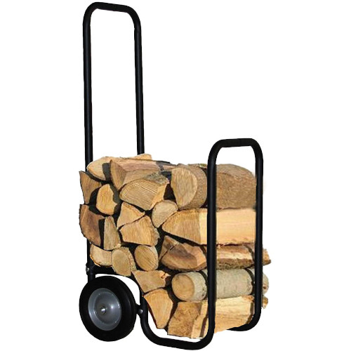 DFO Heavy Duty Firewood Log Cart with Never Flat Tires, Portable Wheeled Log Carrier, Outdoor Wood Rack Storage Mover, Rolling Dolly Hauler review
