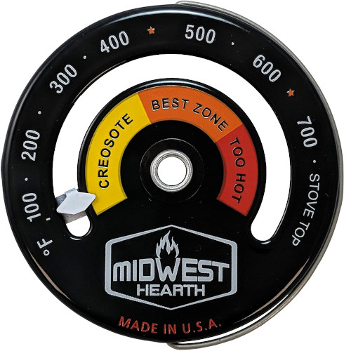 Midwest Hearth Wood Stove Thermometer – Magnetic Top Meter