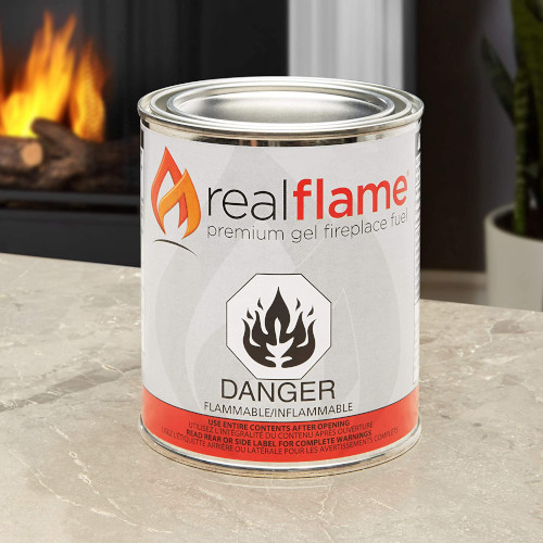 Real Flame Gel Fuel Cans – 12-Pack – Gelled Isopropyl Alcohol for Indoor or Outdoor Fireplaces – Best Seller