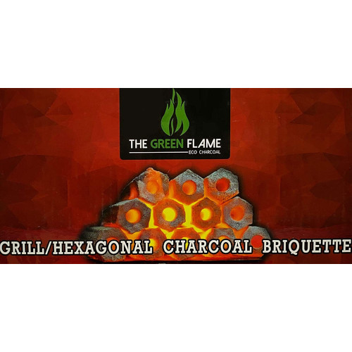 The Green Flame Coconut Charcoal Logs Hexagonal Briquettes Natural Coconut Shell review