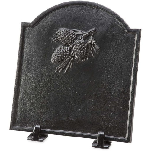 Wind & Weather 66A88 Cast Iron Fireback with Pine Cone Design, Black review