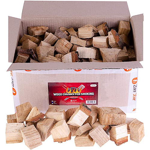 Zorestar Oak Smoker Wood Chunks, BBQ Cooking Natural for All Smokers review