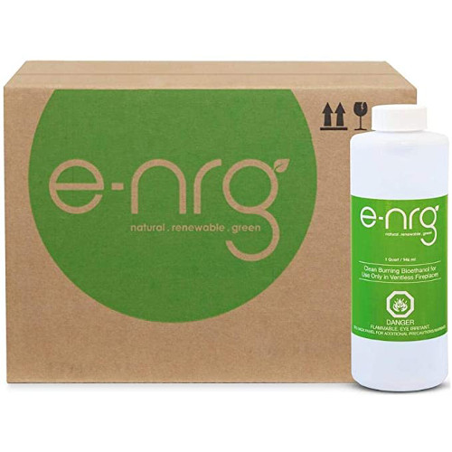 e-NRG Bio Ethanol Fireplace & Fire Pit Fuel - Fuel for Indoor/Outdoor Ventless Fireplace/pits, 16 Quarts review